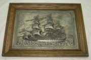 Картина, панно настенное «Корабль», Германия 20 век №3542