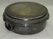 Сотейник старинный, кастрюля, серебрение, «Norblin» Варшава 19 век №3545