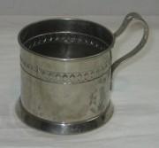Подстаканник старинный, никелировка, «WMF» №3382