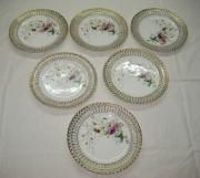 Блюдца старинные, набор из 6 тарелочек, «Кузнецов»? №3553