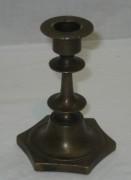 Подсвечник старинный маленький, томпак, Россия 19 век №3648