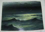Картина «Море», масло, «Крюков» 1990 год №3603