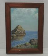 Картина «Море, камни», акварель №3653