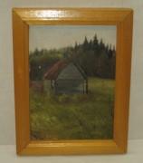 Картина «Изба», масло, «Тихомиров О.Л.» 1990 год №3655