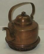 Чайник старинный медный, на 1,5 л, Швеция 20 век №3685