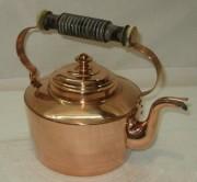 Чайник из меди, костяные вставки, Европа 20 век №3701