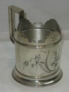 Подстаканник старинный, серебро 84, модерн, Россия 19 век №3731
