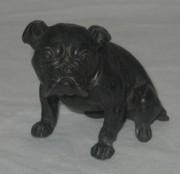 Статуэтка старинная «Бульдог, мопс», собака, шпиатр №3822
