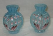 Вазочки парные «Ландыши», стекло №3875