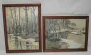 Две старинные картины, карандаш, «Ф. Сурков» Россия 1920-е годы №3707