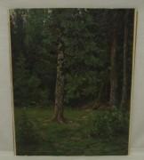 Картина старинная «Лес», масло, 1915 год №3708