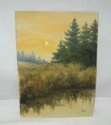 Картина «Природа» акварель, 1990 год №3712