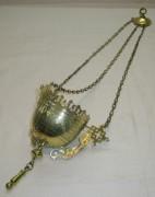 Лампада старинная, лампадка на цепях, 19 век №3939