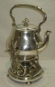 Бульотка старинная, чайник с горелкой, на 2 л, «Кристофль» 19 век №3965