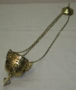 Лампада на цепях, лампадка старинная №3978