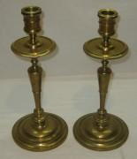 Подсвечники старинные парные, литье, высокие, 19 век №3994