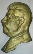 Бюст, барельеф, голова «Сталин», бронза №4020