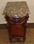 Стол старинный под самовар, дуб, мрамор №4035