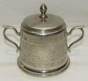 Сахарница старинная, никелировка, «WMF» Германия, начало 20 века №4041
