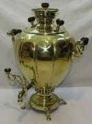 Самовар старинный угольный «яйцо», на 6 л, «Капырзин» 19 век №978