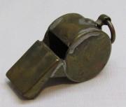 Свисток милицейский, латунный, СССР №4104