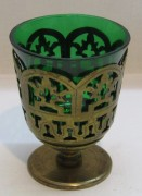 Лампада, лампадка зеленое стекло №4106