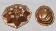 Форма для печенья «Лягушка», медная, 2 шт №4177