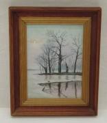 Картина «пейзаж», картон, масло, «Иванов» 1992 год №4054