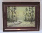 Картина «Зимний лес», холст, масло, СССР №4067