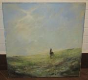 Картина «Лошадь», масло, «Куликов» СССР №4115