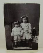 Фотография старинная «Дети с самоваром» №4224