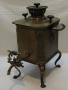 Коллекционный угольный самовар «дорожный», на 2 л, «Иван Маликов» 19 век №1022