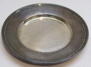 Блюдце старинное, серебрение, «Морозов» №4293