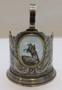 Подстаканник «Медный всадник», эмаль, СССР №4304
