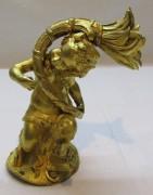 Элемент мебели старинный, фигура, бронза, позолота №4347
