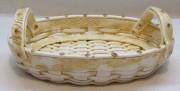 Конфетница старинная, плетенка, корзинка, керамика №4351