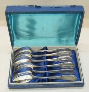 Старинные чайные ложки, 6 шт, серебро 875 пр, СССР №4380