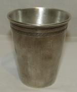 Стакан старинный, серебрение, начало 20 века №4388
