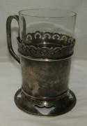 Подстаканник старинный из серебра 84 пробы, русский стиль, Россия 1896 год №4398