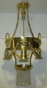 Люстра старинная латунная №4498
