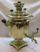 Самовар старинный угольный «фонарь», на 6,5 л, «Баташев» 19 век №1049