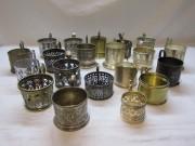 Коллекция старинных подстаканников, 19 штук, 19 век №4543
