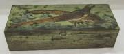 Коробка, шкатулка для перчаток старинная «фазаны» №4411