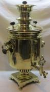 Самовар старинный угольный «банка», на 10 литров, отличные медали, Россия 19 век №1051