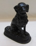 Скульптура «собака, спаниель», чугун, «Касли 1988 год» №4667
