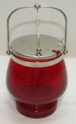 Сахарница с ложкой, красное стекло, СССР №4672