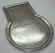 Поднос под самовар, с кругом, в никеле «Тула» №1185