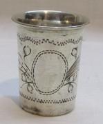 Стопка старинная, серебро 84 пр, 19 век №4745