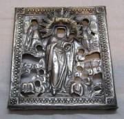 Оклад старинный от иконы, серебро 84 пр, 1850 год №4660
