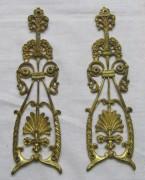 Накладка старинная, деталь, позолота №4676